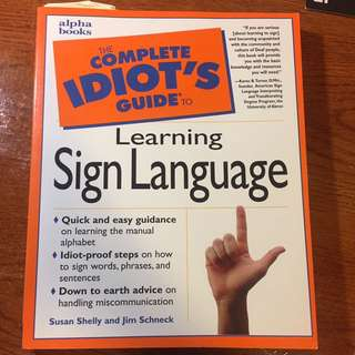 American Sign Language - Idiot's Guide