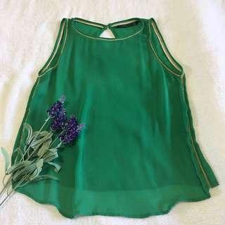 Zara Transparent Green Top