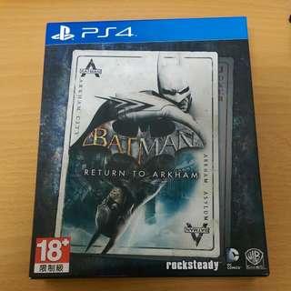 Ps4 蝙蝠俠 重返阿卡漢合輯 一片價格玩兩片遊戲 近全新