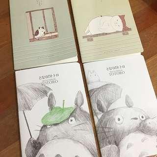 (FREE NM🎉) Totoro/Cat A5 Notebooks