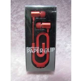 PAPERCLIP 迴紋針耳機(紅色)