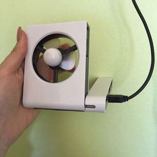 Portable Mini Fan with additional USB ports