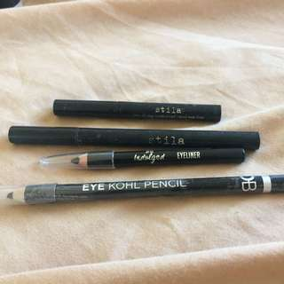 Stila Liquid Eyeliners Original And Mini And Two Other Pencil Eyeliners Inc For Free