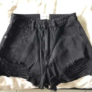 A Brand Shorts Black