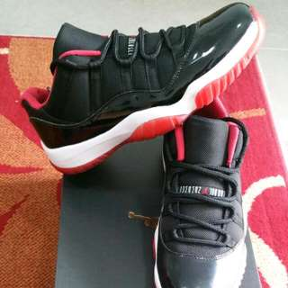 "Jordan 11 OG ""Breds Low"" Size: US 10 - $320"