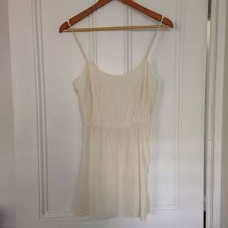 Lover Silk Cream Dress Size 10