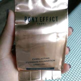 PONY EFFECT 極透光氣墊粉餅補充蕊 色號Rosy Beige