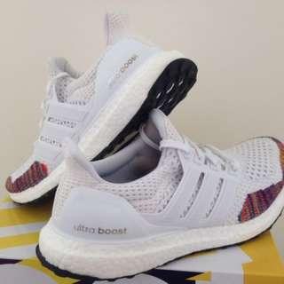 Adidas Ultra Boost LTD白彩虹編織慢跑鞋 馬牌大底