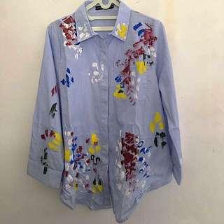 Zara Look A Like Printed Poplin Shirt