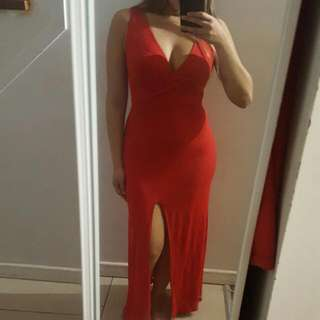 Red Maxi Dress - F21