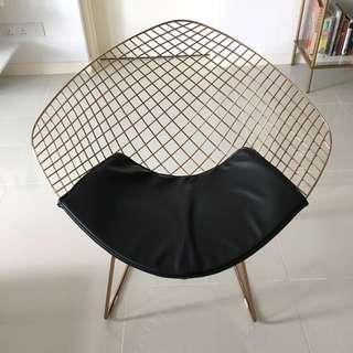 Swedish Designer Diamond Chair In Rose Gold