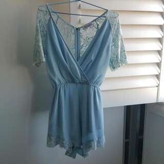 Baby Blue Playsuit Size M/12