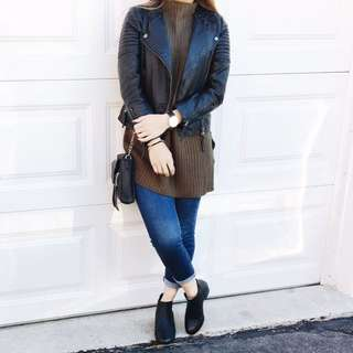 leather jacket: topshop