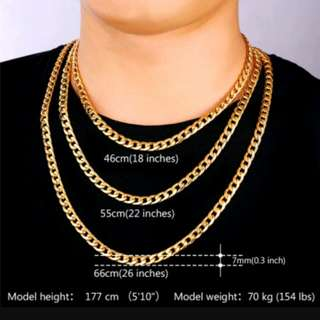 Neck Chain. Real Silver And Gold