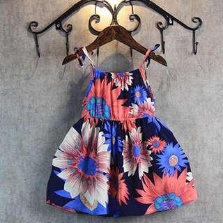 花花吊帶裙