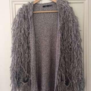 Sportsgirl Woolen/acrylic Fluffy Fashion Cardigan