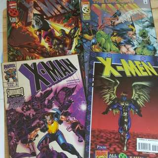 Marvel Comics X-men Set Of 4