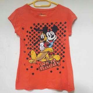 Orange Mickey Shirt
