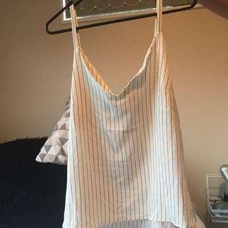 Striped White Singlet