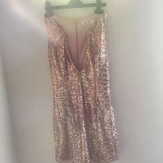 Sequen Dress Rose Gold