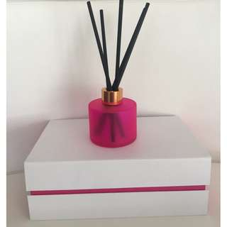 LUXURY 200ml PINK REED DIFFUSER WITH ROSE GOLD/COPPER LID