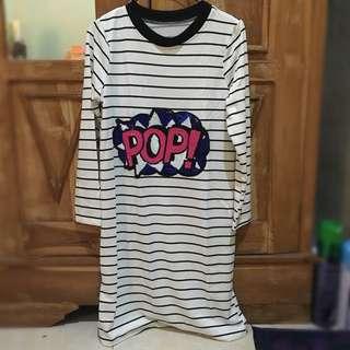 stripe dress pop