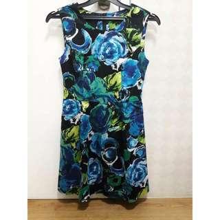 Dress Summer Flower Dress kode 01 Rose Blue