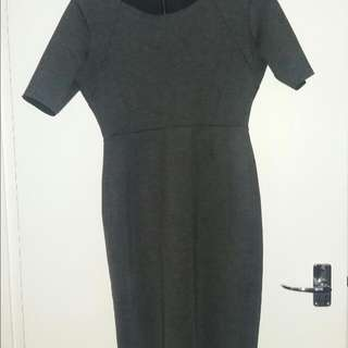 Warm, Autumn-winter Midi Dress Size M/L
