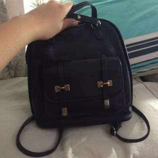 Small Black Backpack