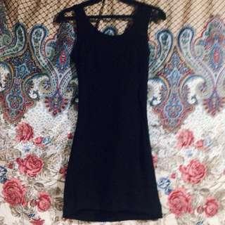 Bareback Black dress