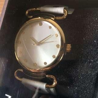 Zalora Gold/White Watch