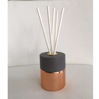 LUXURY 200ml ROSE GOLD/COPPER REED DIFFUSER WITH CONCRETE LID