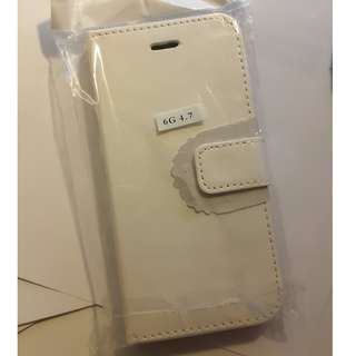 New iPhone 6 case white leather flip case