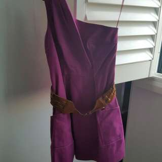 Purple/Magenta One Shoulder Dress Size 12