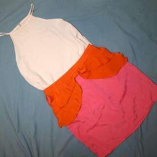 Ribbon Peplum Skirt