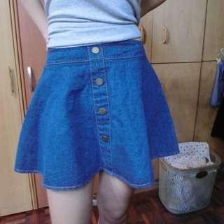 排扣牛仔裙#兩百元短褲