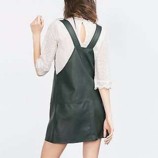 Zara Leather Look Pinafore