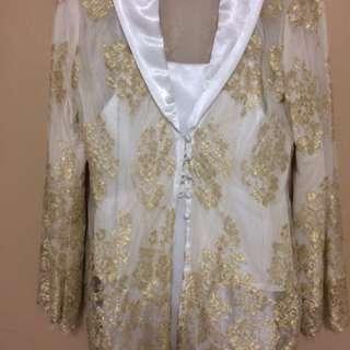 White Gold Lace Kebaya