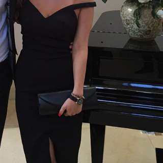 Kookai Black Off Shoulder Dress