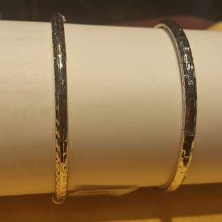 白金手環活動扣式 特殊設計 反光彩色
