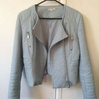 Valleygirl Blue PU Leather Jacket