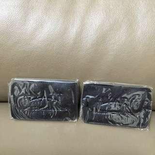 Hyatt Regency Black Leather Luggage Tag X 2 Pieces