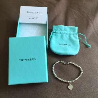Tiffany & Co. 心型純銀手鍊 (100% Real 95% New)