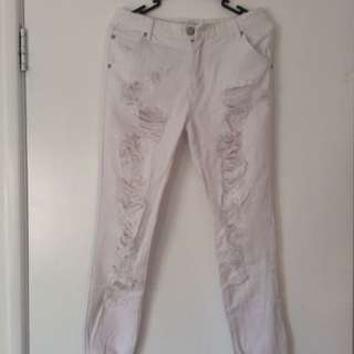 Glamorous White Ripped Jeans