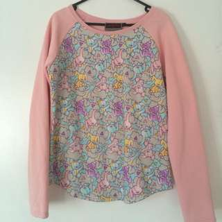 Jawbreaker Pink Fleece Sweater