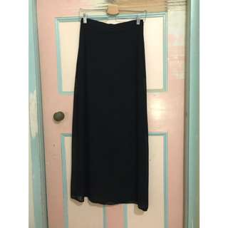 Ava Sheer Black Maxi Skirt