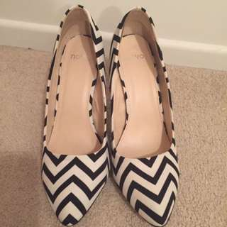 Novo Striped Heels