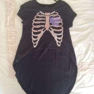 Drop Dead Clothing Itchy Bones Ribcage Crop Top