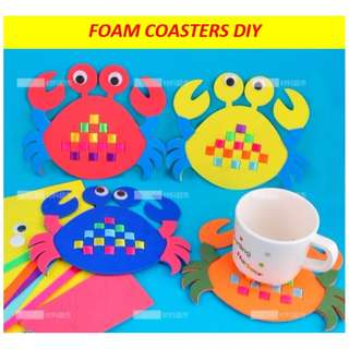 Foam coasters DIY / sea creatures / goodie bag / party pack / art and craft activity for kids