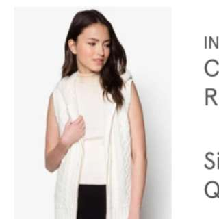 In-leading Cable Knit Vest